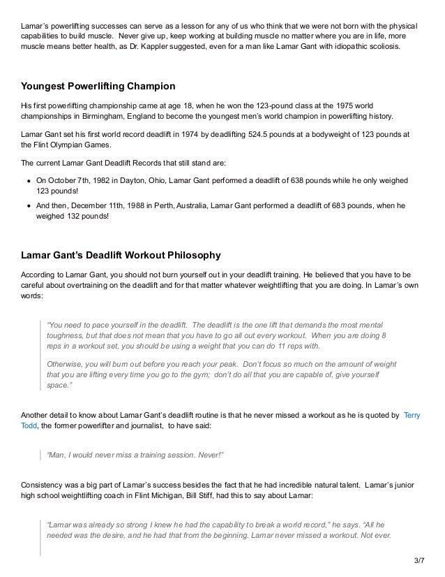 valtuutettu sivusto luotettava laatu ilmainen toimitus 11 Amazing Lamar Gant Deadlift Facts You Didn't Know