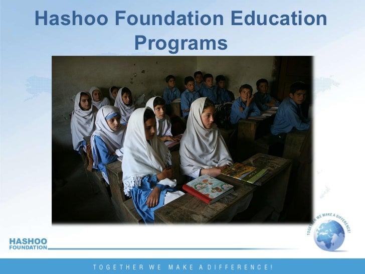 Hashoo Foundation Education Programs