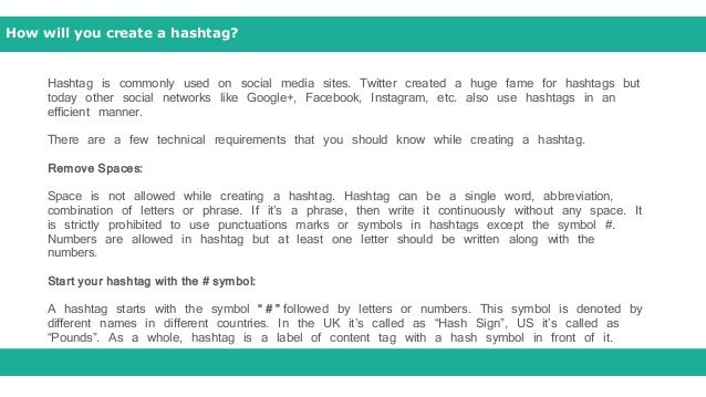 Hashtag Smart Way To Tag Your Business