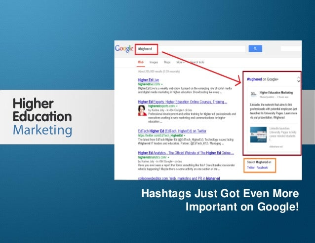 Hashtags Just Got Even More Important on Google! Slide 1 Hashtags Just Got Even More Important on Google!