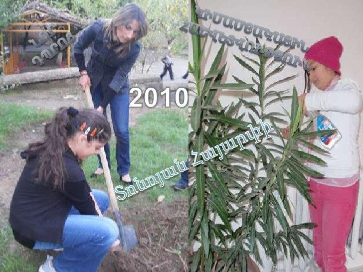 ԿԻՍԱՄՅԱԿԱՅԻՆ ՀԱՇՎԵՏՎՈՒԹՅՈՒՆ<br />ՆՈՐ  ԴՊՐՈՑ<br />2010<br />ՏոնոյանՀայարփի<br />