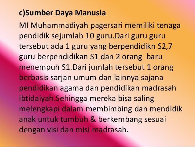 Hasil Observasi Di Sd Mi Muhammadiyah Pegersari Mungkid