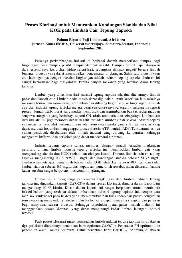 Hasil Review Jurnal Klorin