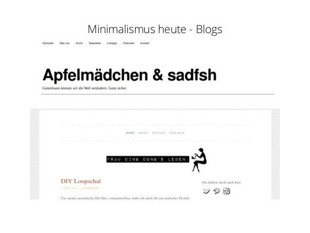 Minimalismus for Blog minimalismus
