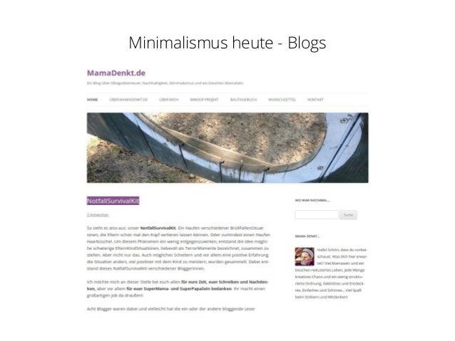 Minimalismus for Minimalismus blog