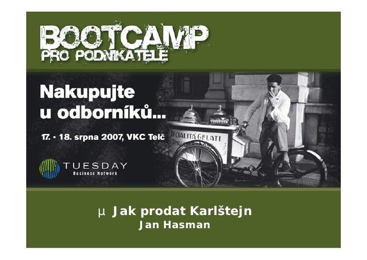 µ Jak prodat Karlštejn      Jan Hasman