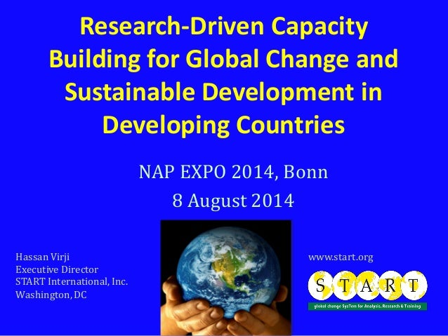 Research-Driven Capacity Building for Global Change and Sustainable Development in Developing Countries NAP EXPO 2014, Bon...