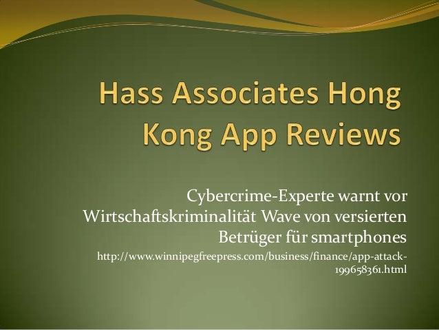 Cybercrime-Experte warnt vorWirtschaftskriminalität Wave von versierten                 Betrüger für smartphones http://ww...