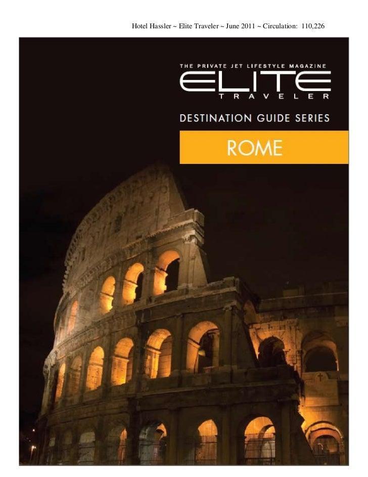 Elite Traveler June 2011 - Hassler Roma