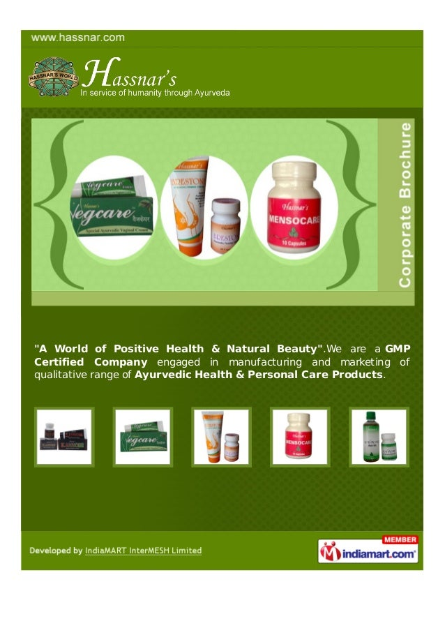 """A World of Positive Health & Natural Beauty"".We are a GMPCertified Company engaged in manufacturing and marketing ofquali..."