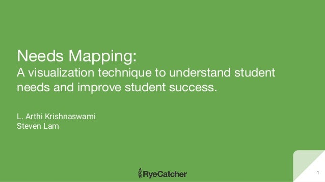 Needs Mapping: A visualization technique to understand student needs and improve student success. L. Arthi Krishnaswami St...