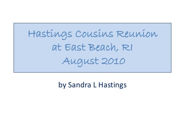 Hastings Cousins Reunion at East Beach, RI August 2010 by Sandra L Hastings