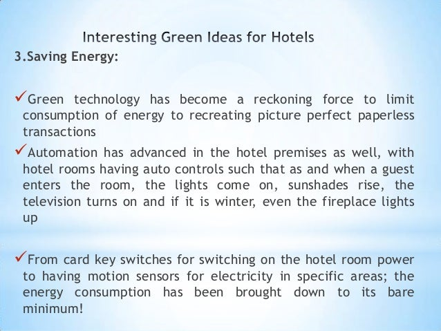 Has your Hotel gone Green yet?