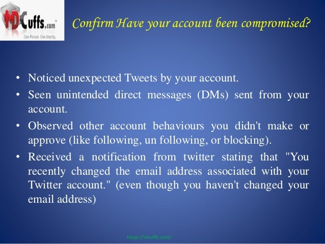 Has your twitter accou...