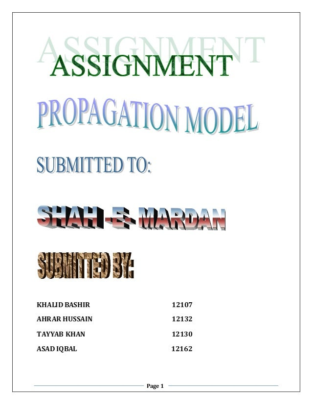 Page 1 KHALIDBASHIR 12107 AHRAR HUSSAIN 12132 TAYYAB KHAN 12130 ASAD IQBAL 12162