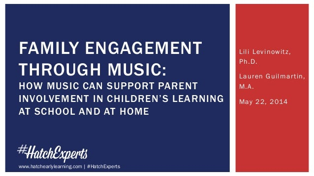 Lili Levinowitz, Ph.D. Lauren Guilmartin, M.A. May 22, 2014 FAMILY ENGAGEMENT THROUGH MUSIC: HOW MUSIC CAN SUPPORT PARENT ...
