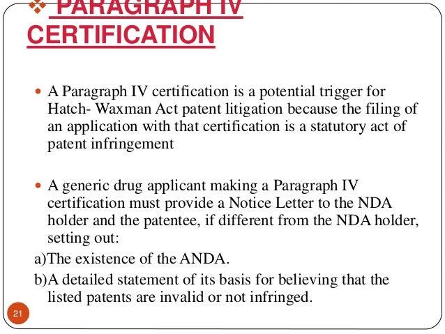 Hatch waxman act & amendments ppt