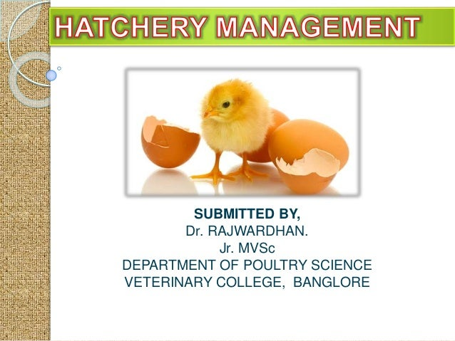 SUBMITTED BY, Dr. RAJWARDHAN. Jr. MVSc DEPARTMENT OF POULTRY SCIENCE VETERINARY COLLEGE, BANGLORE
