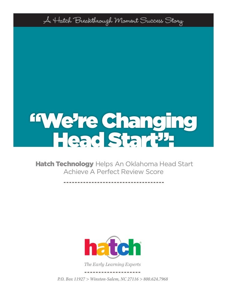 "A Hatch Breakthrough Moment Success Story""We're Changing  Head Start"":Hatch Technology Helps An Oklahoma Head Start       ..."