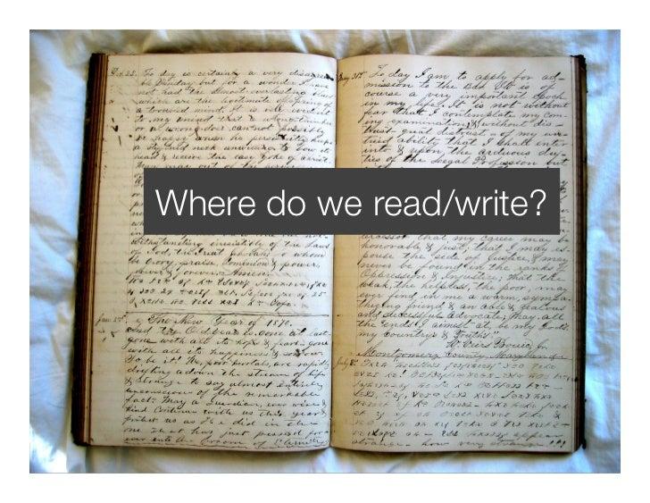 Where do we read/write?     DjangoCon 2008                             98