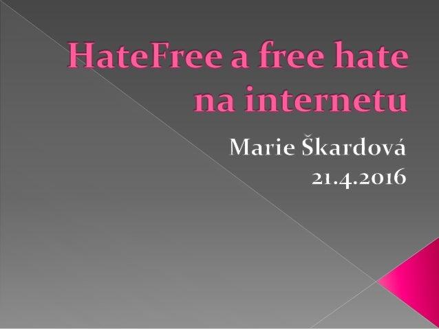  Násilí z nenávisti je jednání motivované předsudky nebo nenávistí namířené proti osobě, skupinám, jejich majetku, hodnot...