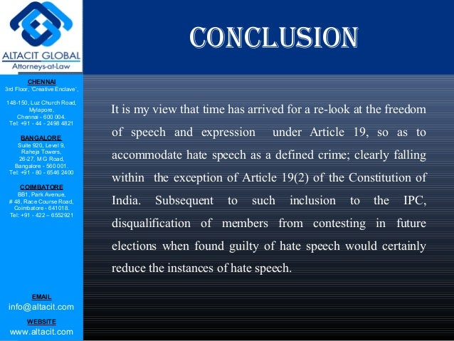 regulation of hate speech The concept of hate speech is understood and used variously by different people and in different contexts generally, hate speech is that which offends, threatens or insults groups based on race, colour, religion, national origin, gender, sexual orientation, disability or a number of other traits(1) from a european perspective, hate speech is.