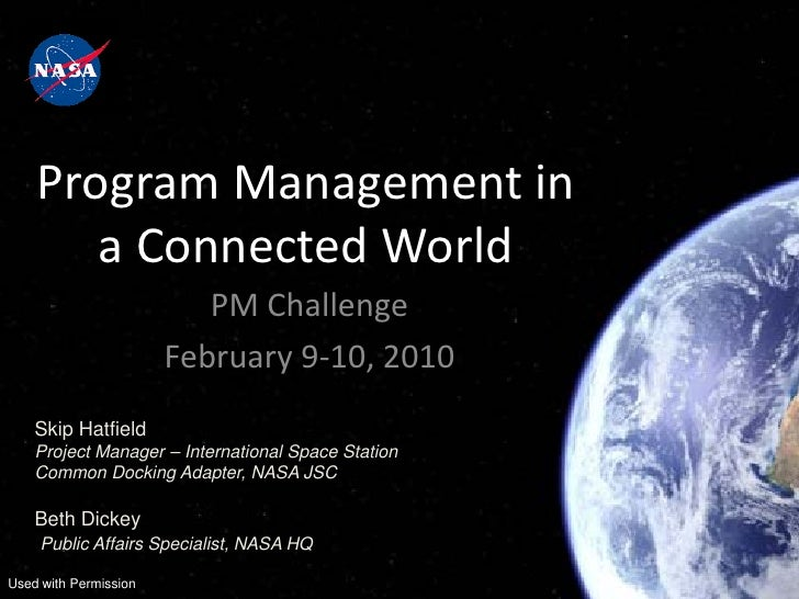 Program Management in       a Connected World                          PM Challenge                       February 9-10, 2...