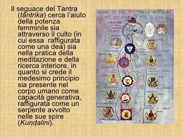 <ul><li>Il seguace del Tantra ( tāntrika ) cerca l'aiuto della potenza femminile sia attraverso il culto (in cui essa  raf...