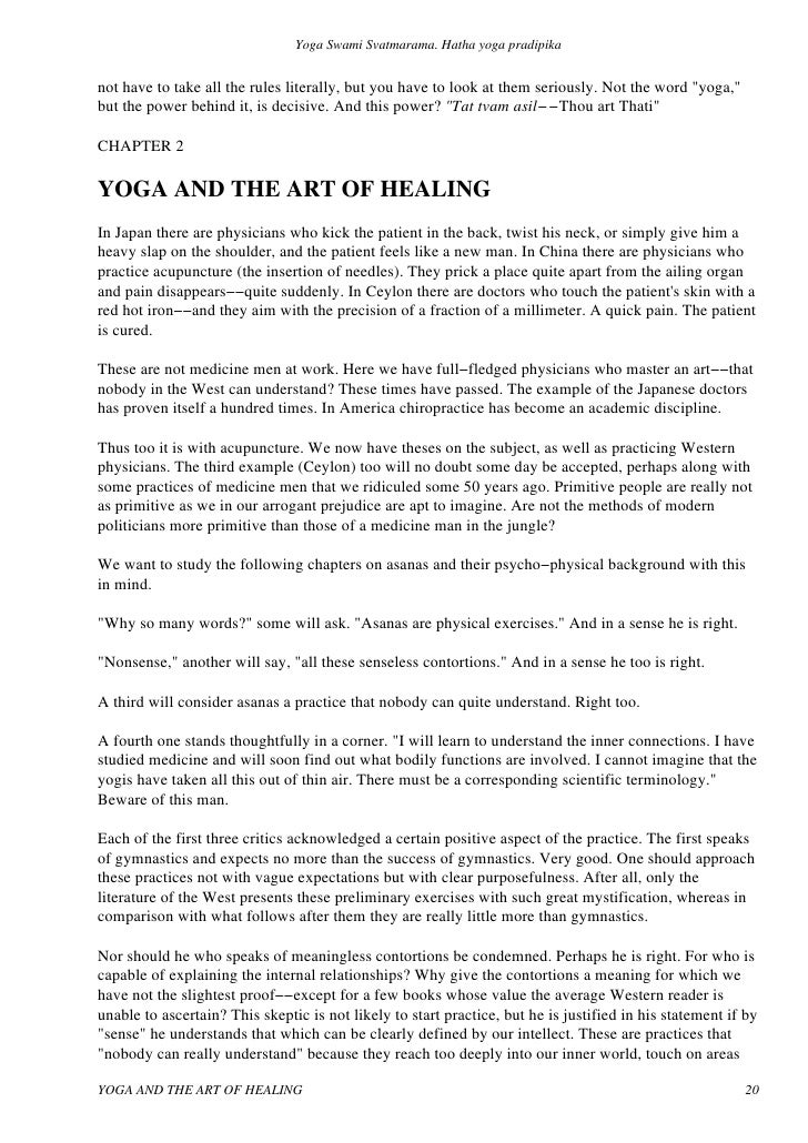 yoga sutras essay Story from puranas about how patanjali started sharing yoga sutras this is the first in a series of articles based on sri sri ravi shankar's commentary of the.
