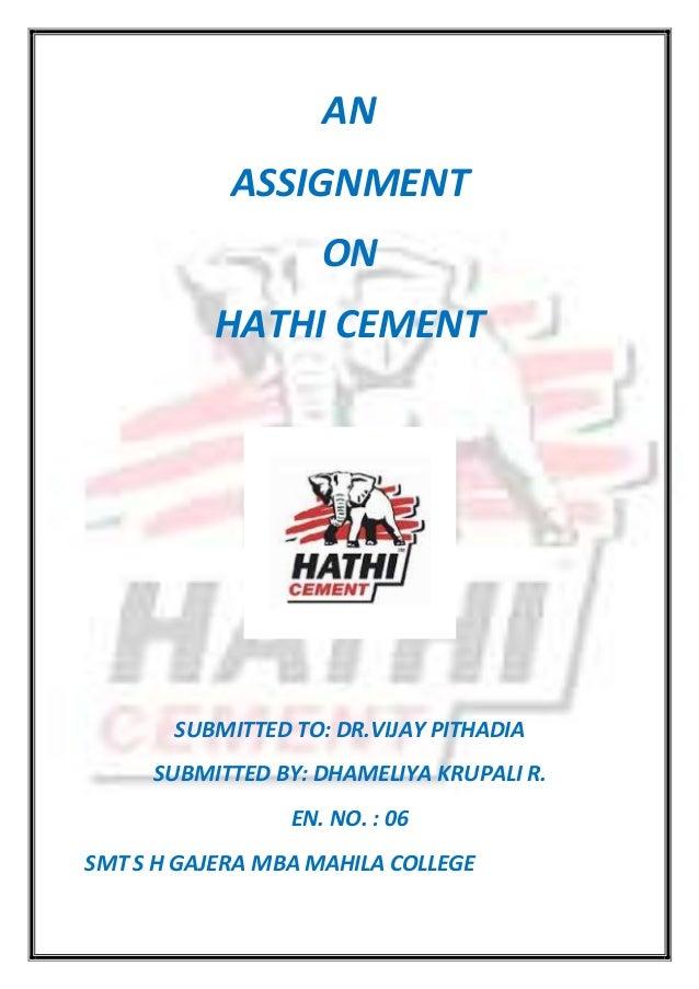 Hathi cement final