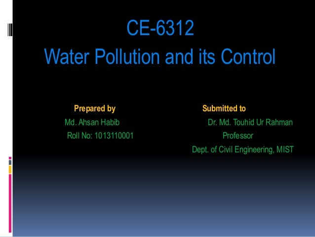 water quality and contamination 2 essay