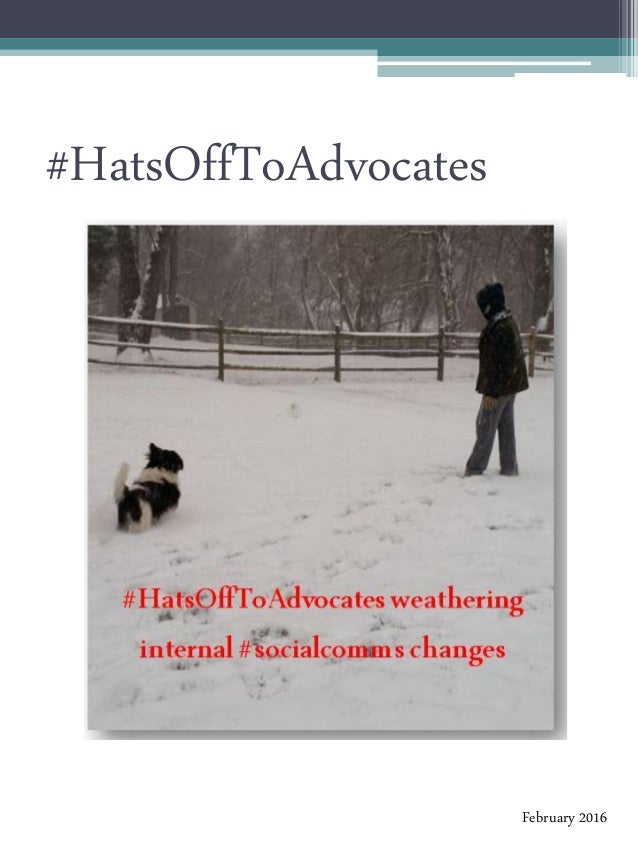 #HatsOffToAdvocates February 2016