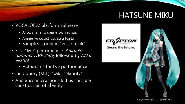 Gendering Hatsune Miku Networked Gender And The Co Construction Of I
