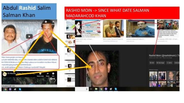 Abdul Rashid Salim Salman Khan RASHID MOIN -> SINCE WHAT DATE SALMAN MADARAHCOD KHAN