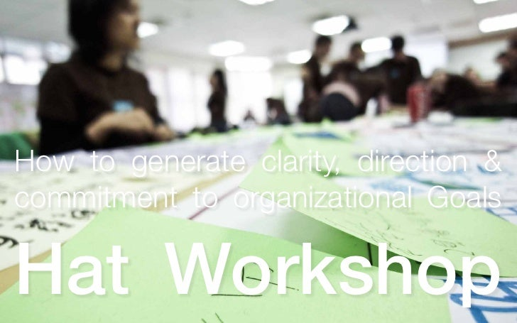 How to generate clarity, direction & commitment to organizational Goals  Hat Workshop