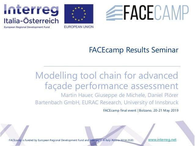 FACEcamp Results Seminar Modelling tool chain for advanced façade performance assessment Martin Hauer, Giuseppe de Michele...