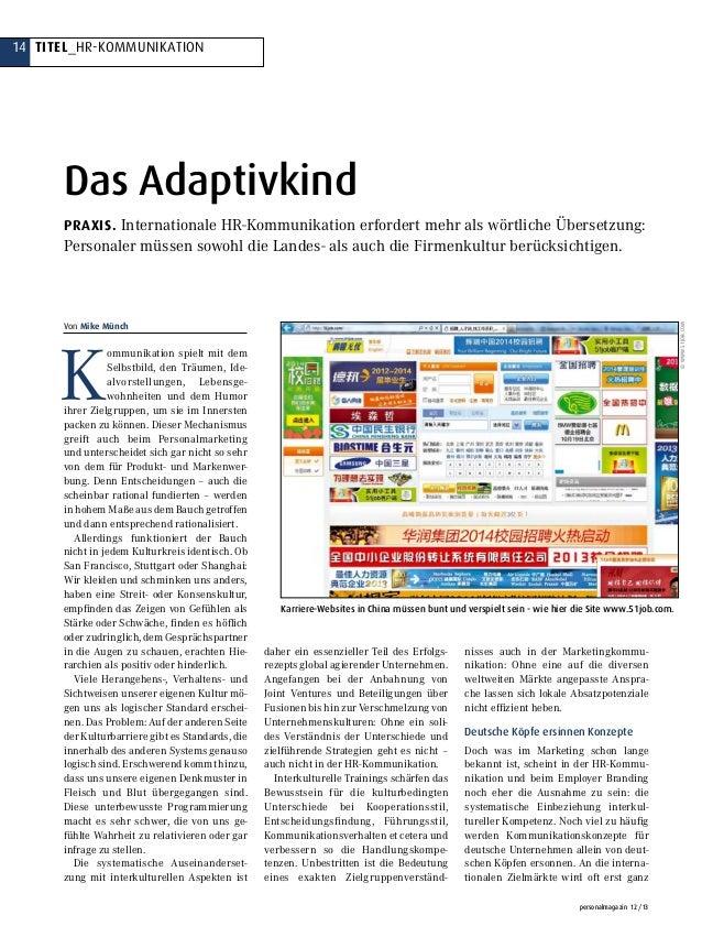 14 Titel_hr-kommunikation personalmagazin 12/13 K ommunikation spielt mit dem Selbstbild, den Träumen, Ide- alvorstellun...