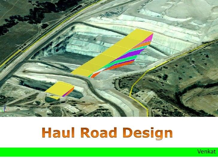 Haul Road Design