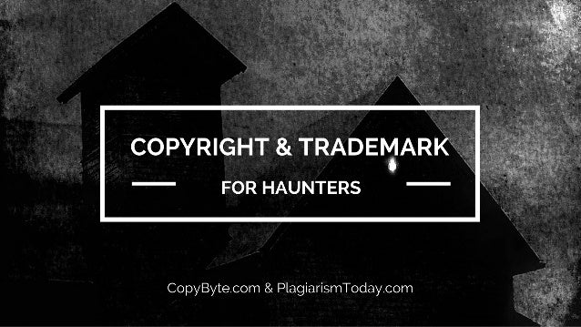 QUICK SYNOPSIS ➤ About Me ➤ Basics of Copyright ➤ Basics of Trademark ➤ How to Not Get Sued (Hopefully) ➤ How to Protect Y...