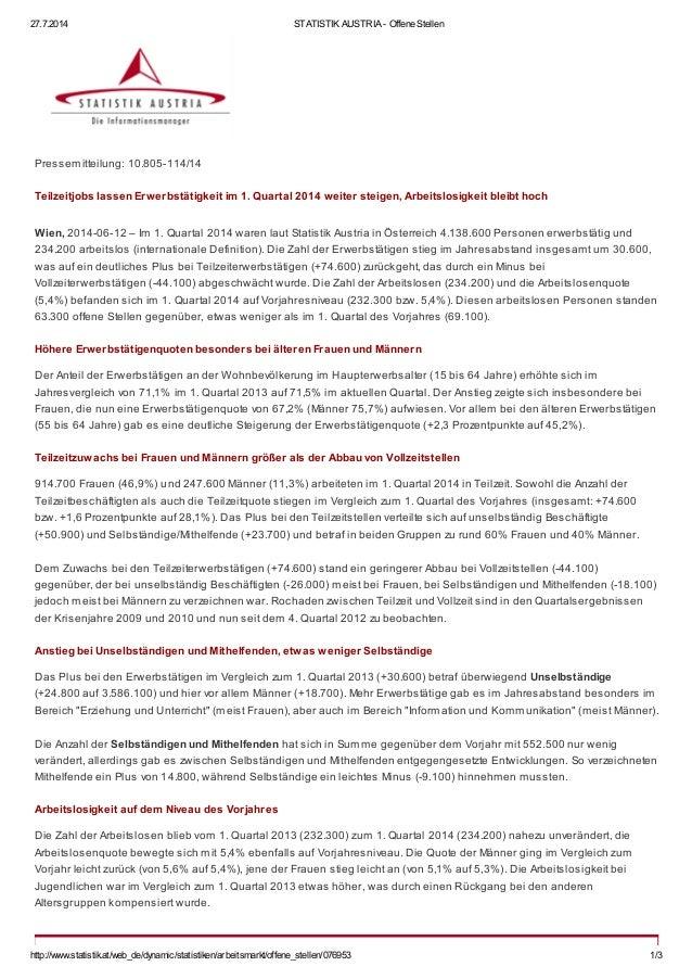 27.7.2014 STATISTIK AUSTRIA - Offene Stellen http://www.statistik.at/web_de/dynamic/statistiken/arbeitsmarkt/offene_stelle...