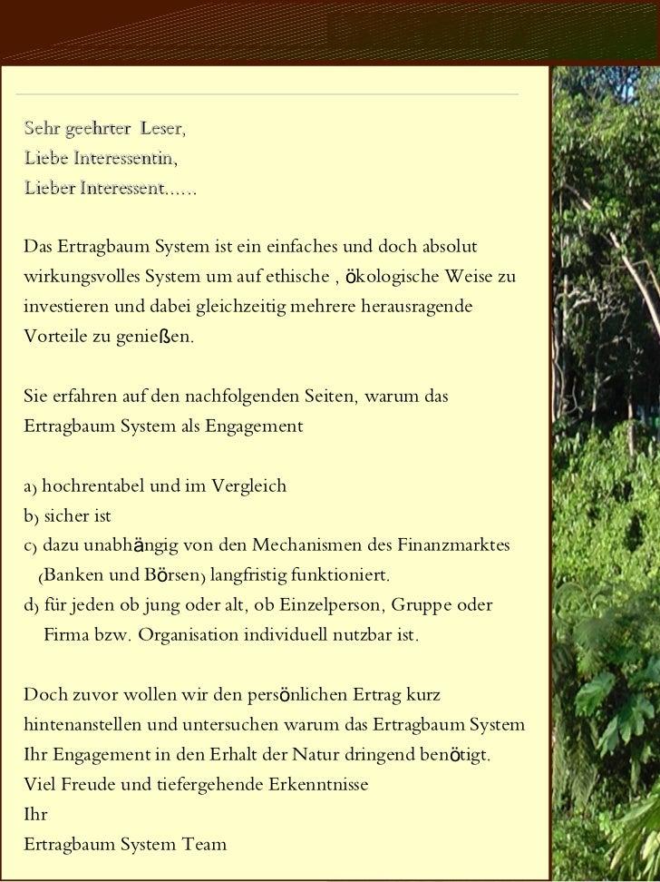Das Ertragbaum System Slide 2