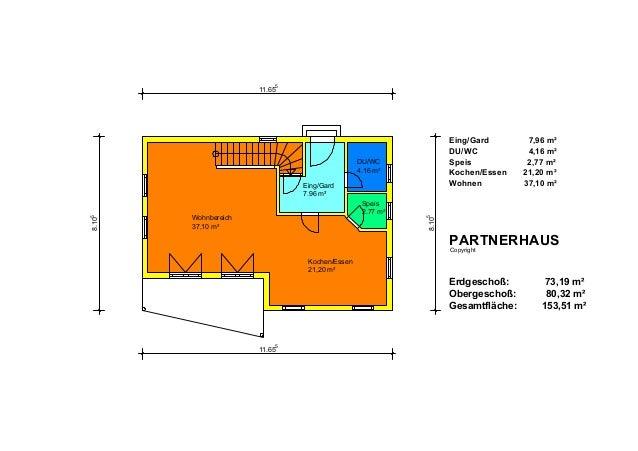Eing/Gard 7.96 m² DU/WC 4.16 m² Speis 2.77 m² 8.10 5 11.65 5 8.10 5 11.65 5 Kochen/Essen 21,20 m² Wohnbereich 37,10 m² Ein...