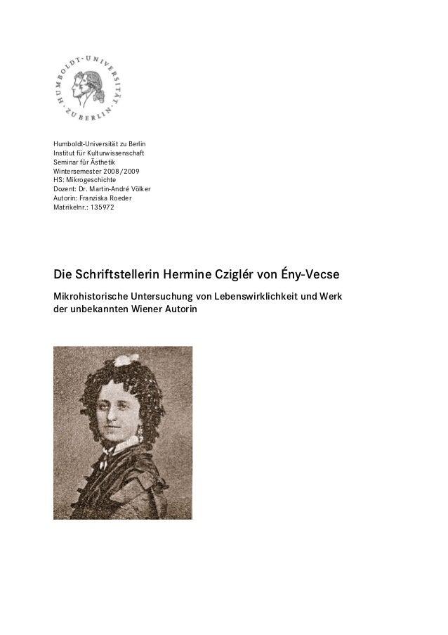 Humboldt-Universität zu BerlinInstitut für KulturwissenschaftSeminar für ÄsthetikWintersemester 2008/2009HS: Mikrogeschich...