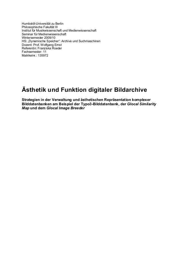 Humboldt-Universität zu BerlinPhilosophische Fakultät IIIInstitut für Musikwissenschaft und MedienwissenschaftSeminar für ...
