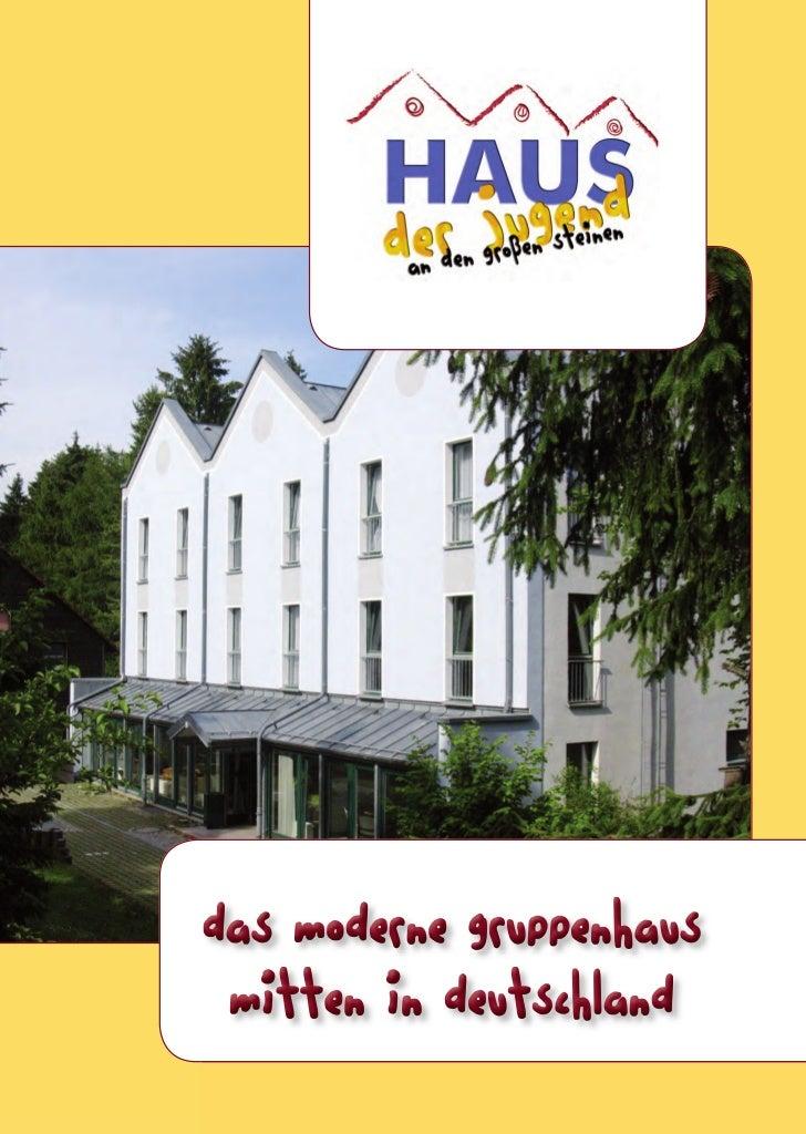 Das moderne gruppenhaus mitten in deutschland