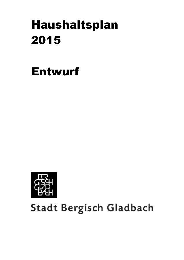 Haushaltsplan  2015  Entwurf