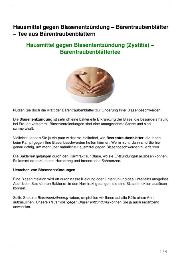 Hausmittel gegen Blasenentzündung – Bärentraubenblätter– Tee aus Bärentraubenblättern        Hausmittel gegen Blasententzü...
