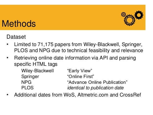 Dataset • Limited to 71,175 papers from Wiley-Blackwell, Springer, PLOS and NPG due to technical feasibility and relevance...