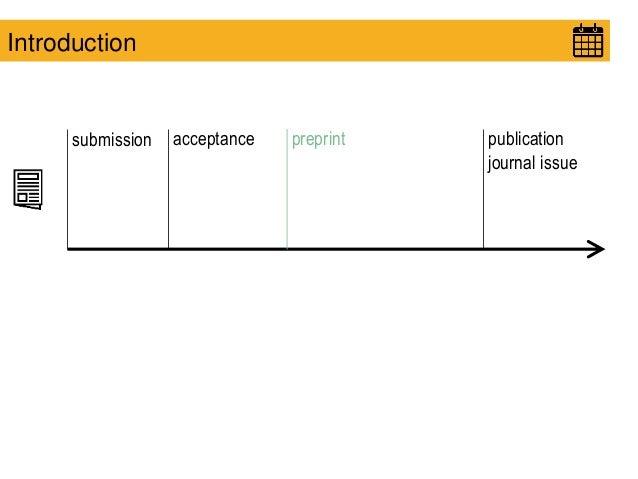 submission acceptance publication journal issue Introduction preprint
