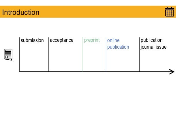 submission acceptance publication journal issue online publication Introduction preprint